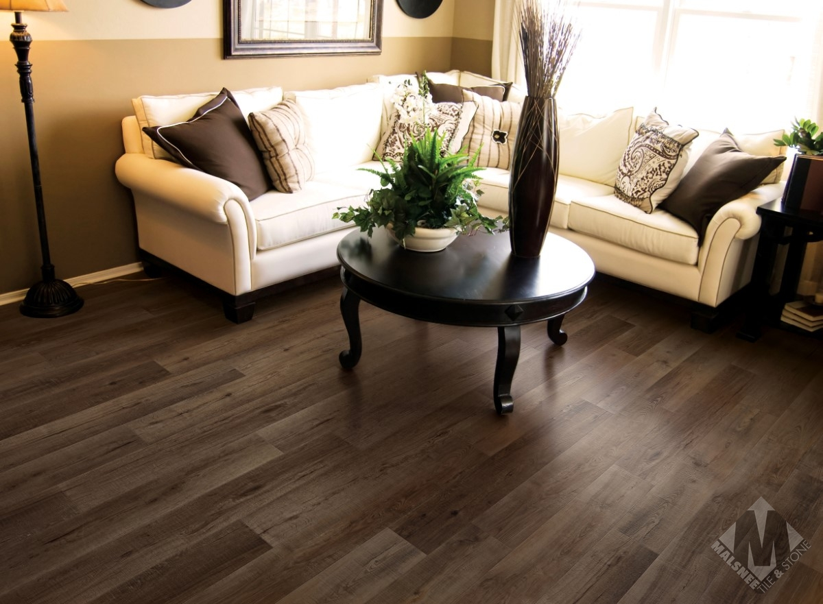 Living room with hardwood flooring and sofa